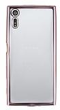 Sony Xperia XZ Rose Gold Kenarlı Şeffaf Silikon Kılıf