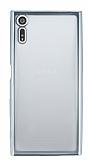 Sony Xperia XZ Silver Kenarlı Şeffaf Silikon Kılıf