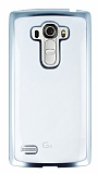 LG G4 Stylus Silver Kenarlı Şeffaf Silikon Kılıf