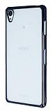 Sony Xperia Z3 Siyah Kenarlı Şeffaf Silikon Kılıf