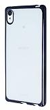 Sony Xperia Z3 Plus Siyah Kenarlı Şeffaf Silikon Kılıf