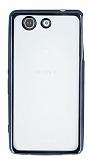 Sony Xperia Z3 Compact Dark Silver Kenarlı Şeffaf Silikon Kılıf