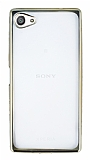 Eiroo Color Fit Sony Xperia Z5 Compact Gold Kenarl� �effaf Silikon K�l�f