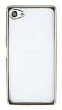 Sony Xperia Z5 Compact Gold Kenarlı Şeffaf Silikon Kılıf