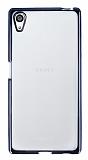 Sony Xperia Z5 Siyah Kenarlı Şeffaf Silikon Kılıf