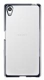Sony Xperia Z5 Silver Kenarlı Şeffaf Silikon Kılıf