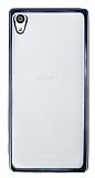 Sony Xperia Z5 Premium Dark Silver Kenarlı Şeffaf Silikon Kılıf