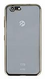 Turkcell T70 Gold Kenarlı Şeffaf Silikon Kılıf