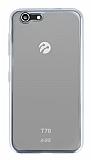 Turkcell T70 Silver Kenarlı Şeffaf Silikon Kılıf