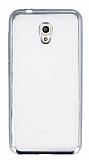 Vodafone Smart 7 Style Silver Kenarlı Şeffaf Silikon Kılıf