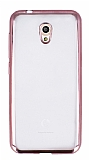 Vodafone Smart 7 Style Rose Gold Kenarlı Şeffaf Silikon Kılıf