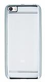 Eiroo Color Fit Xiaomi Mi 5 Silver Kenarl� �effaf Silikon K�l�f
