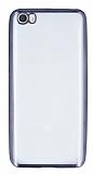 Eiroo Color Fit Xiaomi Mi 5 Dark Silver Kenarlı Şeffaf Silikon
