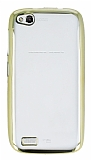 Eiroo Color General Mobile Discovery Gold Kenarl� �effaf Silikon K�l�f