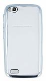 General Mobile Discovery Silver Kenarlı Şeffaf Silikon Kılıf