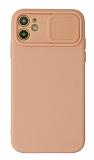 Eiroo Color Lens iPhone 11 Kamera Korumalı Pembe Silikon Kılıf