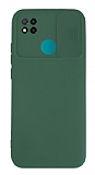 Eiroo Color Lens Xiaomi Poco C3 Kamera Korumalı Yeşil Silikon Kılıf