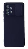 Eiroo Color Lens Samsung Galaxy A72 / A72 5G Kamera Korumalı Lacivert Silikon Kılıf
