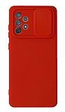 Eiroo Color Lens Samsung Galaxy A72 / A72 5G Kamera Korumalı Kırmızı Silikon Kılıf