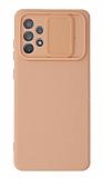 Eiroo Color Lens Samsung Galaxy A72 / A72 5G Kamera Korumalı Pembe Silikon Kılıf