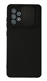 Eiroo Color Lens Samsung Galaxy A72 / A72 5G Kamera Korumalı Siyah Silikon Kılıf
