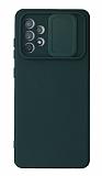 Eiroo Color Lens Samsung Galaxy A72 / A72 5G Kamera Korumalı Yeşil Silikon Kılıf