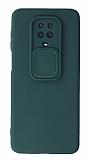 Eiroo Color Lens Xiaomi Redmi Note 9 Pro Max Kamera Korumalı Yeşil Silikon Kılıf