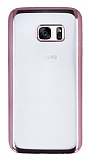 Eiroo Color Samsung Galaxy S7 Rose Gold Kenarl� �effaf Silikon K�l�f