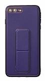 Eiroo Color Stand iPhone 7 Plus / 8 Plus Mor Silikon Kılıf