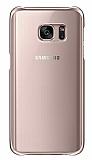 Eiroo Color Thin Samsung Galaxy S7 Rose Gold Rubber Kılıf