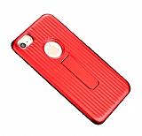 Eiroo Craft View iPhone 6 Plus / 6S Plus Standlı Kırmızı Rubber Kılıf