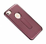Eiroo Craft View iPhone 6 Plus / 6S Plus Standlı Mürdüm Rubber Kılıf