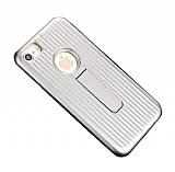 Eiroo Craft View iPhone 6 Plus / 6S Plus Standlı Silver Rubber Kılıf