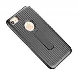 Eiroo Craft View iPhone 6 Plus / 6S Plus Standlı Siyah Rubber Kılıf