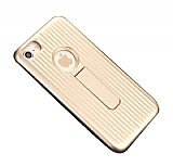 Eiroo Craft View iPhone 7 / 8 Standlı Gold Rubber Kılıf