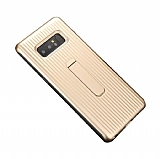 Eiroo Craft View Samsung Galaxy Note 8 Standlı Gold Rubber Kılıf