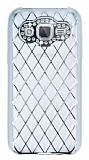 Eiroo Dashy Samsung Galaxy J2 Silver Taşlı Şeffaf Silikon Kılıf