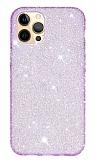 Eiroo Diamond iPhone 12 / iPhone 12 Pro 6.1 inç Işıltılı Mor Silikon Kılıf