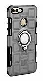 Eiroo Durable Huawei P Smart Ultra Koruma Dark Silver Kılıf
