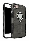 Eiroo Durable iPhone 7 / 8 Ultra Koruma Dark Silver Kılıf