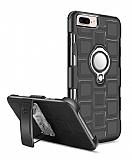 Eiroo Durable iPhone 7 Plus / 8 Plus Ultra Koruma Dark Silver Kılıf
