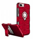 Eiroo Durable iPhone 7 Plus / 8 Plus Ultra Koruma Kırmızı Kılıf