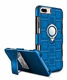 Eiroo Durable iPhone 7 Plus / 8 Plus Ultra Koruma Mavi Kılıf