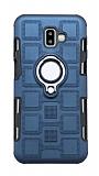 Eiroo Durable Samsung Galaxy J4 Ultra Koruma Lacivert Kılıf