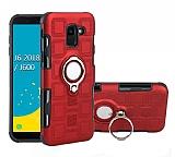 Eiroo Durable Samsung Galaxy J6 Plus Ultra Koruma Kırmızı Kılıf