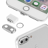 Eiroo Dust Plug iPhone 7 Plus / 8 Plus Silver Koruma Seti