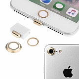 Eiroo Dust Plug iPhone 7 Gold Koruma Seti