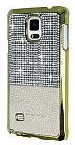 Eiroo Duxal Samsung N9100 Galaxy Note 4 Gold Kenarl� Ta�l� Krem Rubber K�l�f