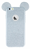 Eiroo Ear Sheenful iPhone 6 / 6S Silver Silikon Kılıf