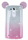 Eiroo Ear Sheenful LG G3 Pembe Silikon Kılıf